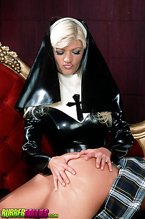 latex nun spanks and licks catholic schoolgirl
